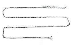 Srebrny łańcuszek, Srebro oksydowane, 45-49cm