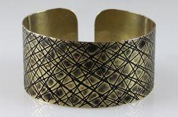 Mosiężna bransoleta - skosy