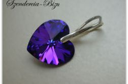 Zawieszka Swarovski Elements Heart 14mm Heliotrope