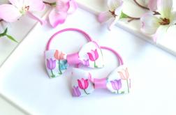 Gumki do włosów kokardki tulipany Nomma