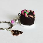Brelok - czekoladowy torcik