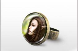 Pierścionek - Elf - antyczny brąz