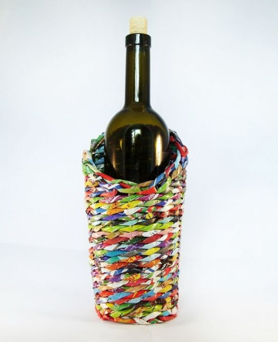 Etui kolorowe na butelkę