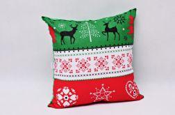 Poduszka świąteczna poduszka na święta zielon