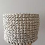 Koszyk na drobiazgi ze sznurka bawełnianego