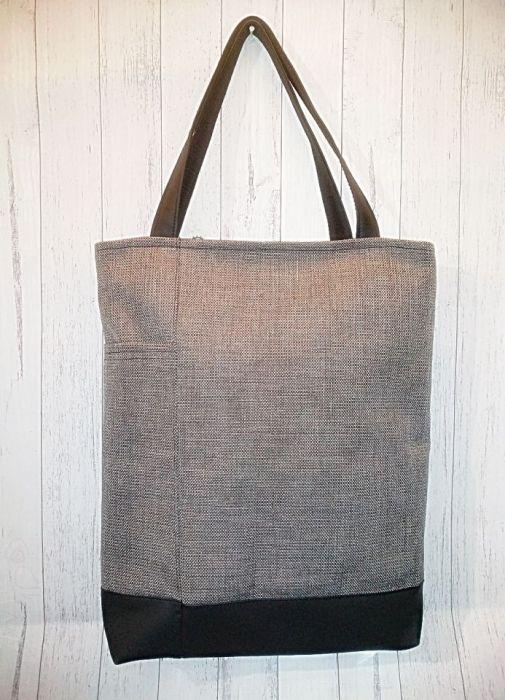 Dużą torba XXl z kieszonką gruba plecionka