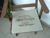 Siedzisko lniane na krzesło