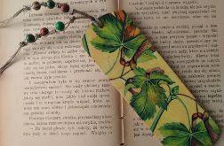 zakładka do książki z liśćmi klonu