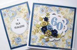 Kartka URODZINOWA z niebieskimi różami