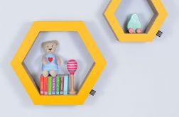 Półka na książki HEXAGON | żółty