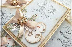 Kartka świąteczna z bałwankiem 2