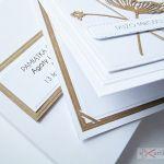 Kartka ŚLUBNA w bieli z brązem /Z - Kartka na ślub z brązowymi kwiatami