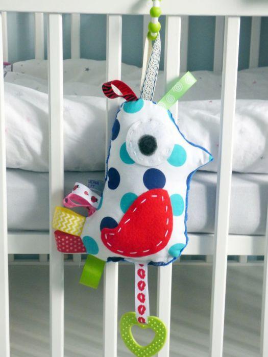 Ptaszek, gryzak zawieszka maskotka niemowlęca