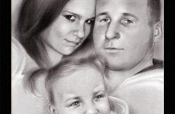 Portret Portrety na zamówienie ze zdjęcia - 3 osoby - format A2