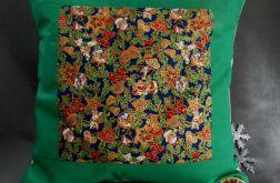Patchworkowa poduszka zielona