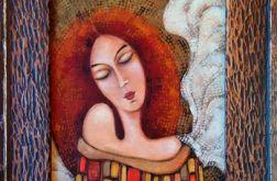 Anioł-obraz akryl na płótnie oprawiony