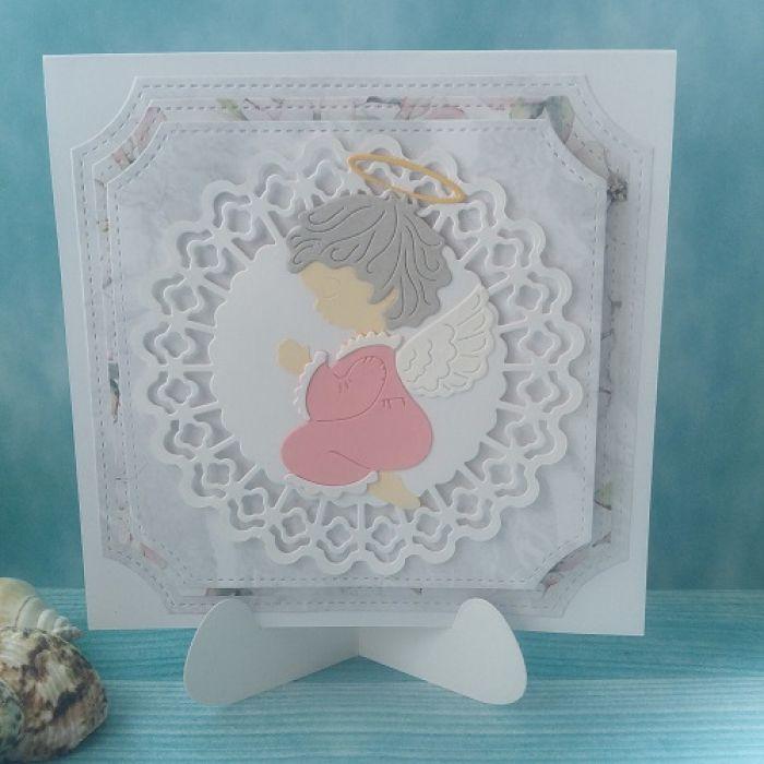 Kartka Różowy Aniołek