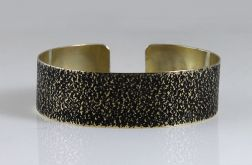 Mosiężna bransoleta - piasek cienka