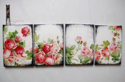 Obrazek decoupage retro róże kwiaty