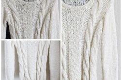 Sweter klasyczny .ALPAKA 100%  NA ZAMOWIENIE