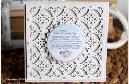 Piękna ażurowa kartka z okazji Chrztu