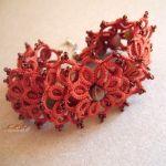 frywolitkowa bransoletka jesienna