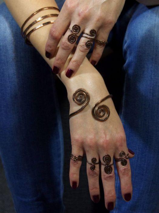 Zawijasy - miedziany pierścionek 190522-01
