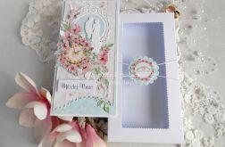 Ślubna kartka DL w pudełku 70