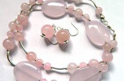 Kamień miłości, kwarc różowy, delikatna biżut