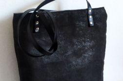 Połyskująca glam rockowa torba na ramię shopper xl