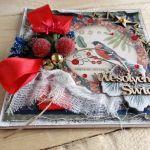 Kartka świąteczna w pudełku VINTAGE #2 - Detal1