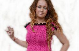 Tunika-sukienka w kolorze fuksji ;o)