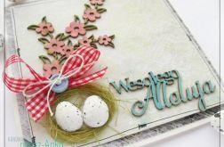 Kartka wielkanocna z jajeczkami 1