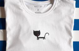 Koszulka ręcznie malowana grumpy cat unisex