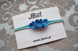 Niebieskie kwiatki opaska na główkę