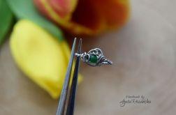 Pierścionek regulowany jadeit, wire wrapping