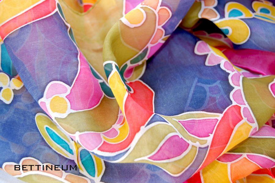 Jedwabny szal malowany ręcznie Nr.5