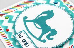 Kartka urodzinowa - konik na biegunach KU058