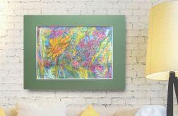 Szkic ogrodowy 14 - kolorowy rysunek
