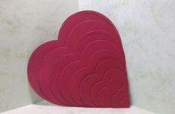 scrapki - czerwone serduszka (10 szt.)