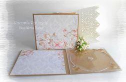 Folder na płytę, róż i fiolet