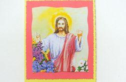 Żólta kartka z Panem Jezusem (w nr 11)