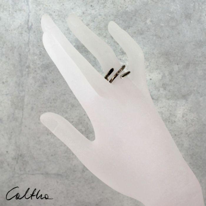 Zawijas - mosiężny pierścionek 210305-02 - Pierścionek w  kolorze złota