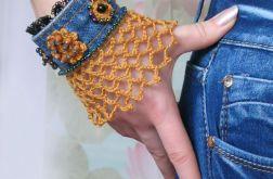 Jeans z koronką - bransoletka