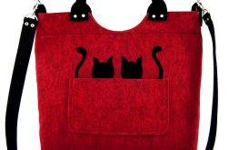 Cats on red-melange/strap
