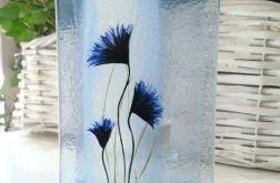 Szklany ręcznie malowany świecznik na t-light