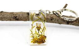 Brelok breloczek do kluczy z żywicy kwiaty polne