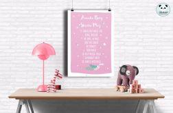 plakat Aniele Boży- 50x70 jasny róż
