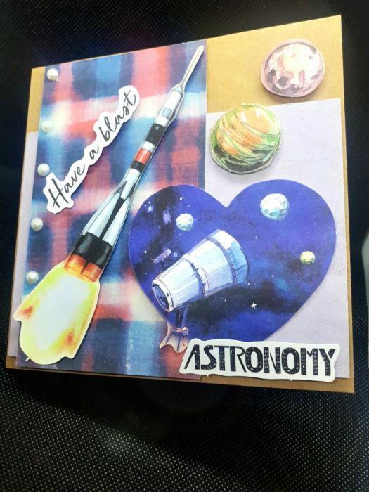 Kartka okolicznościowa #1 astronomia gwiazdy planety