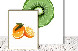 Grafika do kuchni i jadalni - Pomarańcze